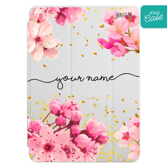 iPad case - Rose Gold Handwritten