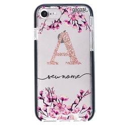 Capinha para celular Anti-Impacto PRO - Flor de Cerejeira Glitter