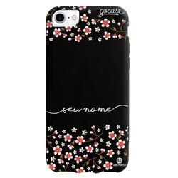Capinha para celular Color Black Cerejeira Glitter - Rosê