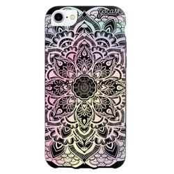 Black Case  Iridescent Mandala Phone Case