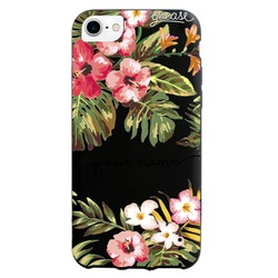 Black Case  Floral Handwritten Phone Case
