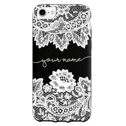 Black Case Lace Handwritten White Phone Case