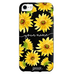 Black Case  Sunflower Handwritten Phone Case