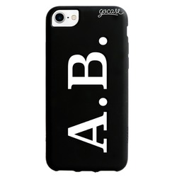Black Case  Initials - White and Black Phone Case