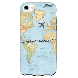 Black Case World Map Phone Case