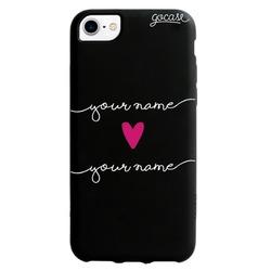 Black Case Forever Love Handwritten Phone Case