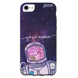 Black Case - Floral Astronaut Handwritten Phone Case