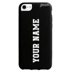Black Case - Vertical Name Football Phone Case