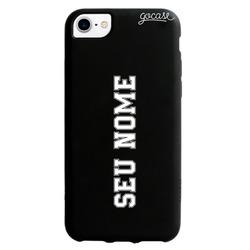 Capinha para celular Black Case - Nome Vertical - Futebol