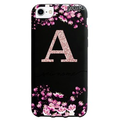 Capinha para celular Flor de Cerejeira Glitter
