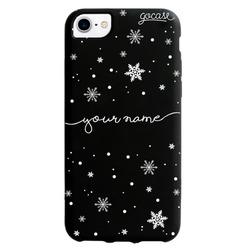 Black Case - Snow Flakes Handwritten Phone Case