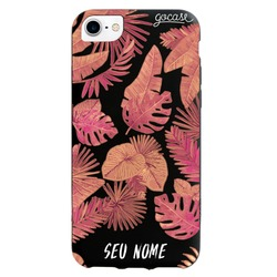 Capinha para celular Color Black - Red Tropical