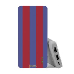 Carregador Portátil Power Bank (10000mAh) - Camisa de time - Azul e grená