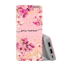 Carregador Portátil Power Bank (10000mAh) Rosa - Rose Gold Manuscrita