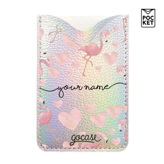 Shiny Pocket - Flamingo Handwritten