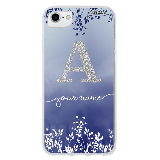 Arranjo Azul Glitter Prata