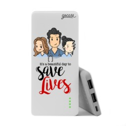 Power Bank Slim Portable Charger (5000mAh)  - Greys Friends