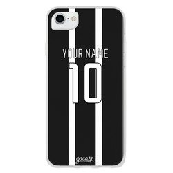 Team jersey - Black/White Stripes Phone Case