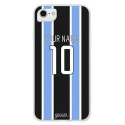 Team jersey - Black/Blue/White Stripes Phone Case