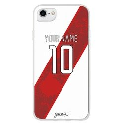 Team jersey - White/Red Shield Phone Case