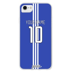 Team jersey - Blue/Three Vertical White Stripes  Phone Case