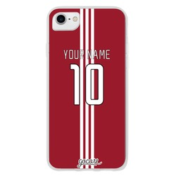 Team jersey - Red/Three Vertical White Stripes  Phone Case