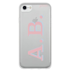 Initials - Pink and Light Blue Phone Case