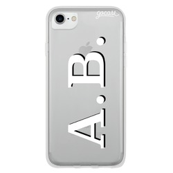 Initials - White and Black Phone Case