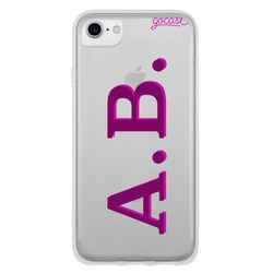 Initials - Purple and Pink Phone Case