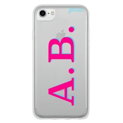 Capinha para celular Iniciais - Pink e Azul