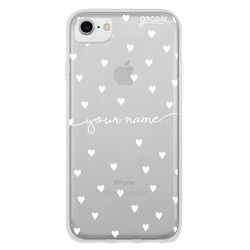 Pattern White Hearts  Phone Case