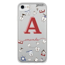 Teeth Handwritten Initial Phone Case