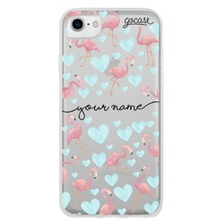 Flamingos Blue Handwritten Phone Case