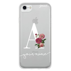 Initials Flower Serif Phone Case