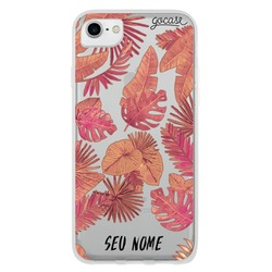 Capinha para celular Red Tropical Clean
