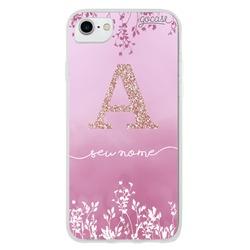 Capinha para celular Arranjo Rosa Glitter