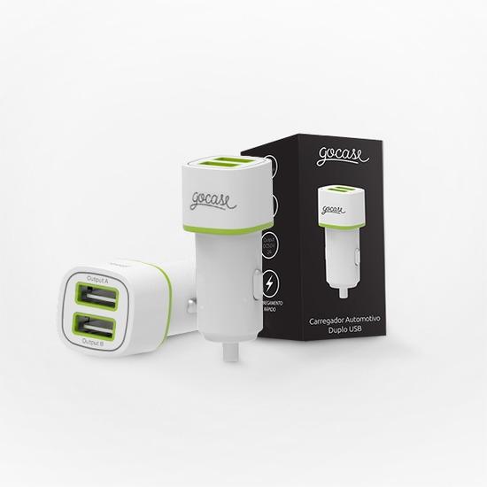 Carregador Veicular Duplo USB Gocase
