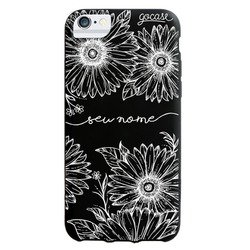Capinha para celular Black Case - Girassóis Decor Manuscrita