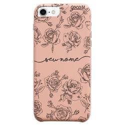 Capinha para celular Fascino - Rosas Delicadas Manuscrita