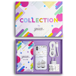 Kit Elephants and Stars Handwritten (Case + Wall Charger + Cable + Box Collection)