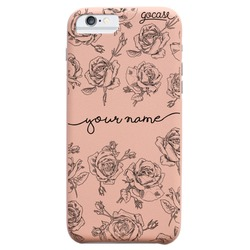 Royal Rose - Delicate Roses Handwritten Phone Case
