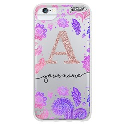 Purple and Pink - Initial Glitter Phone Case