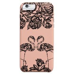 Royal Rose - Flamingo Lace Heart Black Phone Case
