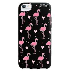 Black Case - Black Case - Flamingo Pattern Phone Case