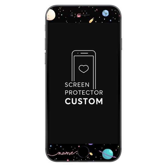 Planets - Black Screen Protector - Tempered Glass
