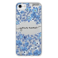 Blue Petals Handwritten Phone Case
