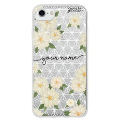 Floral Geometric Handwriting Phone Case