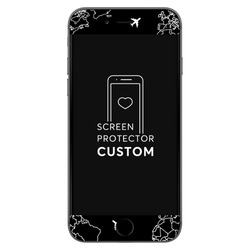 Black World Map Lines - Screen protector - Tempered glass