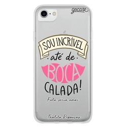 Capinha para celular Boca Calada by Thalita Rebouças