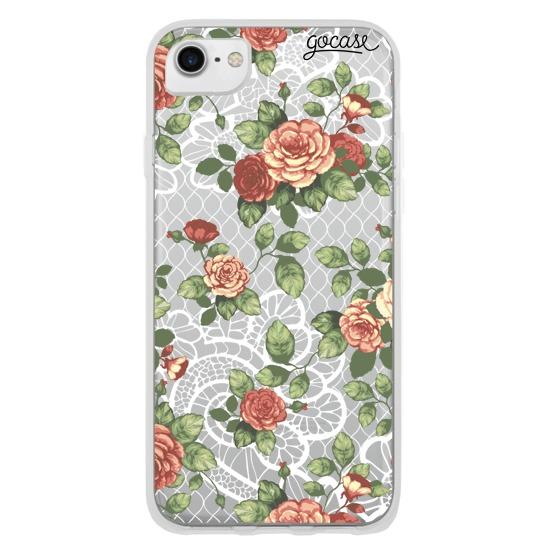 Capinha para celular Floral Renda